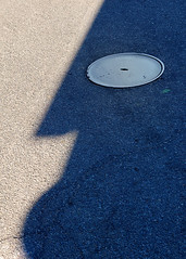 Lord Mc Adam ([ piXo ]) Tags: shadow man face hole d ombra surreal manhole d100 asfalto faccia macadam tombino volto mcadam