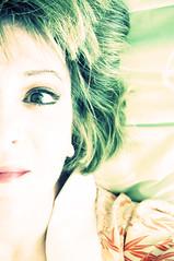 half-faced (tamelyn) Tags: selfportrait eye me face self hair lips half kimono urbanacid utatainhalf