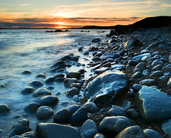 Jurassic coast sunset (Nigel Danson) Tags: sunset sea england coast rocks jurassic dorest nikonstunninggallery