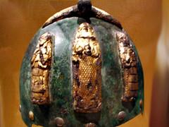 Helmet, 14th C BCE  Img_1726 (Lanterna) Tags: museum ancient war arms middleeast armour metropolitan mesopotamia lanterna neareast