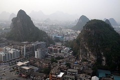 view from brocade mountain (iamtonyang) Tags: china mountain guilin shan karst brocade guangxi diecai