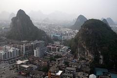 view from brocade mountain (iamtonyang) Tags: china mountain guilin shan karst brocade guangxi diecai