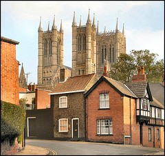 Lincoln Cathedral from Drury Lane