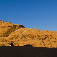 Bedouin praying in the Wadi Rum desert, Jordan (Eric Lafforgue) Tags: pray desert wadirum lafforgue jordan religion priere ericlafforgue lafforguemaccomhasselbladimaconhasselblad cfh39cfh39hasselblad h2 cfh39 hasselblad hasselbladh2 imacon lafforguemaccom arabie arabia middleeast mytripsmypics  giordania iordania    jordania jordnia jordanie jordani jordanien jordnsko rdn alurdun   yordania       ramadan 106 copyspace bluesky telawrence travel remote colorimage dry scenics aridclimate day mountain landscape famousplace outdoors nature silhouette oneperson