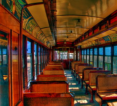 Trolley interior decor
