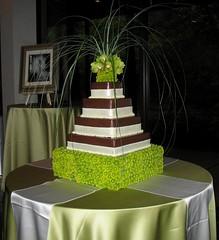 Jara Jeter Wedding Cake (mandotts) Tags: orchids contemporary weddingcake ganache mums explore raspberry vanilla ribbon beargrass fondant bridescake fondantribbon