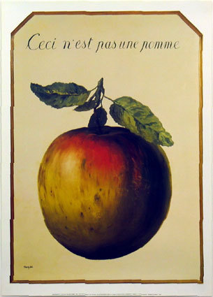 R. Magritte-It Is Not An Apple