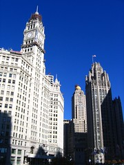 Wrigley and the Tribune Tower (anna_bencze) Tags: travel chicago wow fun