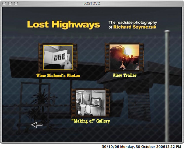 Lost dvd  - extras menu
