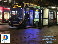STAGECOACH WEST CHELTENHAM DENNIS ENVIRO 200 SN64 OMC  PITTVILLE STREET 07122016 (MATT WILLIS VIDEO PRODUCTIONS) Tags: stagecoach west cheltenham dennis enviro 200 sn64 omc pittville street 07122016