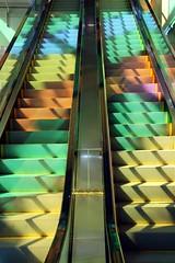 Palais des congrs / Montreal (Wally Baba) Tags: canada quebec montreal escalator 1on1colorfulphotooftheday 1on1colorfulphotoofthedayfeb2007