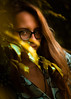 Retrato (Marco Ochoa López) Tags: portrait retrato yellow amarillo eyes ojos mirada girl chica woman pretty brown leafs