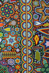 huichol texture (ikarusmedia) Tags: star beads peyote chaqui chaquira pattern texture colorful huichol art artcraft reforma mexico city expo
