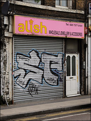 SP (Alex Ellison) Tags: sp shop store shutter eastlondon urban graffiti graff boobs