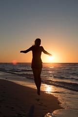 Sunset beach (Juha Helosuo) Tags: varadero matanzas cuba sunset beach nature silhouette canon eos 7d mark ii photography travel caribbean ocean sea people walking running jumping flare