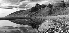 Big Sur - Southern Tip _ bw (Joe Josephs: 3,166,284 views - thank you) Tags: bigsur california californiacoast californialandscape pacificcoasthighway pacificocean travel travelphotography westcoast scenic panorama panoramic wideangle shoreline bw blackandwhite blackandwhitephotography monochrome