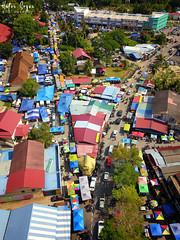Weekends Bazar (Hafiz.Soyuz.Photography™) Tags: pekan ahad penaga market wet dry mavicpro dji aerial town bazar hawker