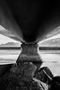 Hiding from Thor (Mikko Manner) Tags: nikon nikond7200 sigma1835mmf18art iceland kolgrafafjödur blackandwhite bw bridge water ocean atlanticocean longexposure underabridge rocks mountains hiding travel roadtrip 2018 mikkomanner pylon