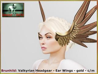 Bliensen - Brunhild - Valkyrian headgear - gold