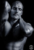 Portrait of Artist Ben Heine by Bi2Kir (Ben Heine) Tags: portrait artist benheine bi2kir hat hands chapeau mains artiste musicien blackandwhite brush