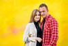 Anna & Joshua [Stranger #74/100] (Vijay Britto Photography) Tags: yel yellow background street portrait naturallight 100strangers outdoorportraits couple romantic smile nikon d750 85mm 18 contrast colors