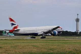 G-VIIH Boeing 777-200ER British Airways Landing at Dublin Airport for painting by IAC 19-7-18 (3 of 3)