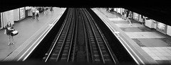 Above The Tracks (steve_whitmarsh) Tags: london city urban architecture building tube station tracks train panorama bw blackandwhite monochrome mono topic