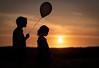 White Balloon (Duncan Lawler) Tags: sunset balloon halnaker blackballoon models youngmodel girls orange glow portsmouthareaphotowalkers westsussex silhouette sun