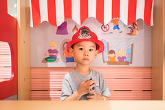 Portrait of a baby boy wearing a fire helmet (Yinjia Pan) Tags: 23years abundance chinaeastasia onebabyboyonly oneperson portrait shanghai babyclothing beautifulpeople blackeye blackhair carefree casualclothing cheerful child childhood chineseethnicity concentration curiosity cute domesticlife enjoyment exploration firefighter firefightershelmet frontview happiness headshot indoors innocence intercom joy lifestyles lookingatcamera partof photography playful playing simpleliving toy