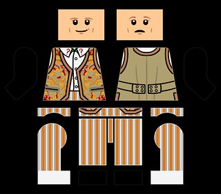 LEGO Fifth Doctor (LEGO + Decals, Variant 2)