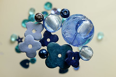 (adelina_tr) Tags: blue beads lifeisarainbow stilllife macro diversity trinkets fromabove