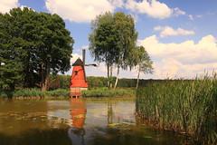 _MG_4807 The windmill  at the Zielona (MariuszWicik) Tags: water tree sky boat grass forest canoneos5dmarkii polska poland windmill lens island polish mariuszwicik