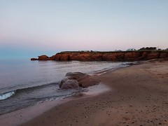 Day 1 - The beach near Gros Cap after sunset. (Bobcatnorth) Tags: lesilesdelamadeleine magdalenislands quebec canada summer 2018 cycling velo bicycle bicycling cycletouring bicycletouring touring tourdevelo gulfofstlawrence