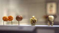 Curious Octopus Netsuke (Non Paratus) Tags: japan japanese art netsuke monkey uscpacificasiamuseum edoperiod 20thcentury octopus depthoffield pasadena museum closeup ivory carving
