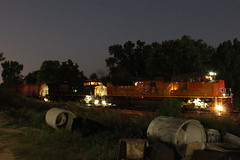 UP 9000 (CC 8039) Tags: up csx cn ic cc trains sd70ace sd70ah ac44cw time exposure night freeport illinois