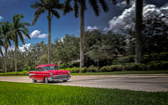Red Ride (MACH1N3) Tags: concepts northamerica landtransportation chevrolet color southflorida florida art thinkfastphotography photography phonephotography automobiles objects red outdoors oldfashioned unitedstates automobile classiccar transportation