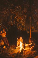 kupala (Dima Viunnyk) Tags: summer bonfire fire girl woman evening night relax rest film vsco vscocam