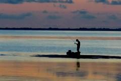 Fisherman Alone (maj488/mike) Tags: fish fishing fisherman suset bay ocean florida apalachicola