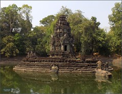 Angkor, Neak Pean Pond 20180203_120044 DSCN2676 (CanadaGood) Tags: asia seasia asean cambodia siemreap angkor neakpean buddhist khmer temple tree archaeology pond pool sculpture canadagood 2018 thisdecade color colour