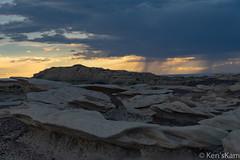 Rain in the Desert (Ken'sKam) Tags: bistibadlands bisti geology rain thunderstorm desert nature cloudy newmexico landscape sky rocks