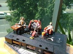 I want to Break Free, Queen (Shabnam_J) Tags: queen diorama break free miniature 80s littlepeople miniatures queenband mtv musicvideo