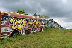 MFP_5984 (MFer Photography) Tags: school bus graveyard graffiti art georgia junyyard decay abandoned infrared ir