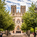 The approach to Reims Cathedral
