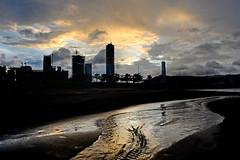 Zhuhai New District 珠海 (MelindaChan ^..^) Tags: macau sunset sky weather chanmelmel mel melinda melindachan dusk evening 澳門 sand play drawing