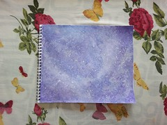 Into my universe. (Somersaulting Giraffe) Tags: indoor art universe painting colour butterfly leaves nature ngc