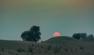 Sunset in the desert / Закат в пустыне