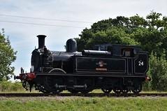 LSWR Class 02 No.W24 'Calbourne' (Landshrew) Tags: lswr londonsouthwesternrailway class02 w24 calbourne iowsr isleofwightsteamrailway allislandlocostogethergala woottonstation