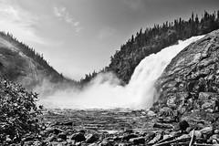 Manitou Falls (stephaneblaisphoto) Tags: blackandwhite quebec canada nature falls northcoast cotenord