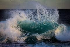 wave, Sydney coast, 2011  #7746 (lynnb's snaps) Tags: 2011 550d digital nature ocean waves breakingwave spray naturalart heart shapes sydney australia canon550d