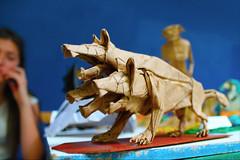 Cerberus (Marcos Origami) Tags: origami origamiart origamilatinoamerica origamilatino handmade art artwork paperart paper papercraft craftpaper craft papiroflexia cancerberus cerberus threehead dog